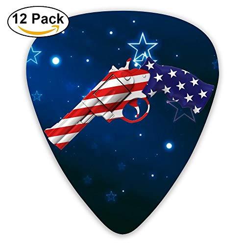 Usa Flag Word Sampler Guitar Picks - 12 Pack Complete Gift Set For Guitarist Best Gift For Guitarist