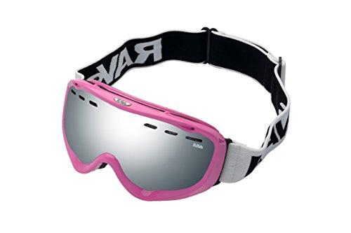 RAVS Downhill Frauen Snowboardbrille Skibrille Rahmen Pink Silver Disc Scheibe