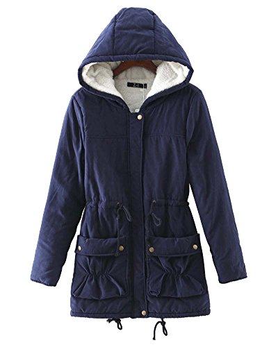 Zongsen giubbotti donna pelliccia con cappuccio giacche cappotto invernale marina militare s