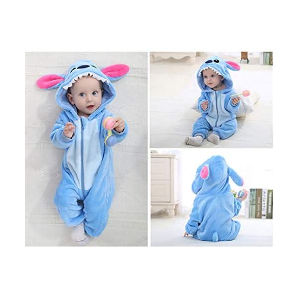 Runuo Bebé recién Nacido con Capucha Mameluco para niños pequeños Mono Infantil Trajes de Invierno Pijamas 5