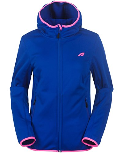 aparso Damen Softshell Funktion Übergangsjacke mit Kapuze und Fleece-Innenfutter (S, Blau) Damen Stretch Fleece Pullover
