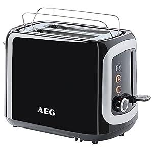 AEG AT3300 Doppelschlitz-Toaster (940 Watt, inkl. Staubschutz-Deckel) schwarz