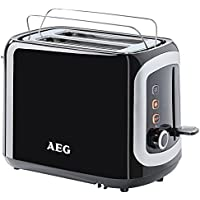 AEG tostadora mañana perfecta en 3300 (940 vatios, 7 pardeamiento estructura asombrosa, fría al tacto, con cubierta anti-polvo) Negro