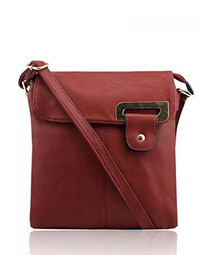 Craze London, Borsa a spalla donna Burgundy(S)