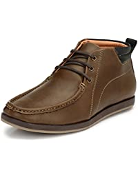 Afrojack Men's Oakwood Synthetic Leather Ankle Boots