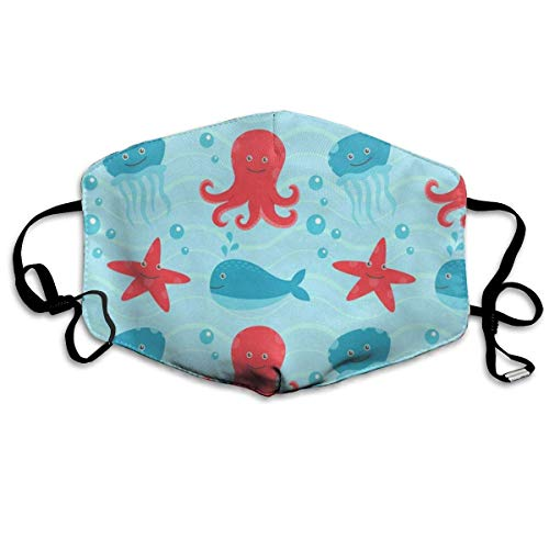 Dustproof Anti-Bacterial Washable Reusable Cartoon Octopus Whale Mouth Cover Mask Respirator Germ Protective Breath Healthy Safety Warm Windproof Mask Design19