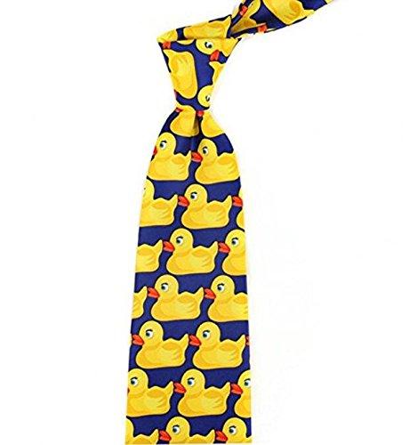 Kingken - Einzigartige Cartoon-Krawatte, Enten-Muster, für - Lustige Cartoon Kostüm