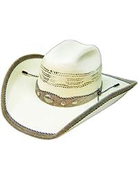 Modestone Straw Sombrero Vaquero Genuine Cow Leather