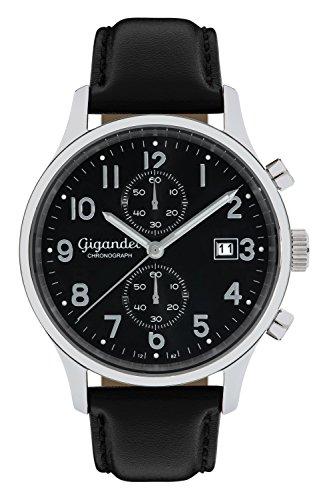 Gigandet Herren-Armbanduhr Chronograph Quarz Analog mit Lederarmband Skyscraper G49-005