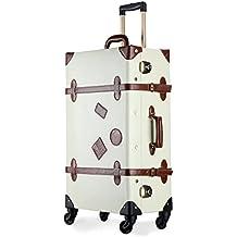 UNITRAVEL Maleta Vintage Viaje con 4 Ruedas con Candado TSA