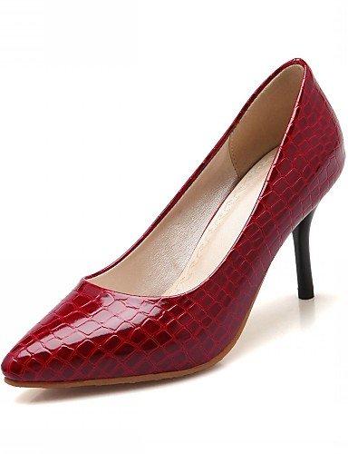 WSS 2016 Chaussures Femme-Bureau & Travail / Habillé / Décontracté-Noir / Rouge / Blanc-Talon Aiguille-Talons-Chaussures à Talons-Microfibre white-us7.5 / eu38 / uk5.5 / cn38