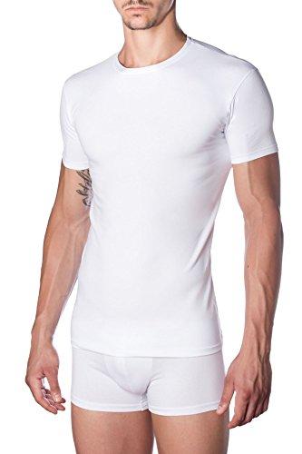 marcLuis Herren Unterhemd Bianco