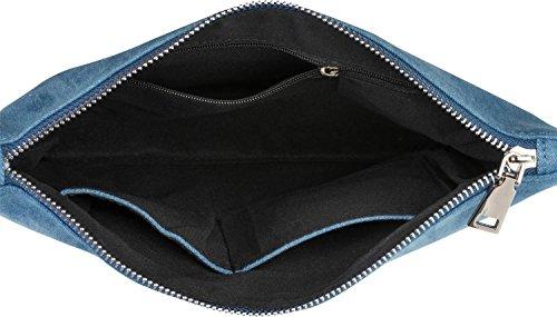 styleBREAKER clutch denim con luccicanti paillettes ananas, tracolla e manico, borsa, donna 02012176, colore:Blu scuro Blu scuro