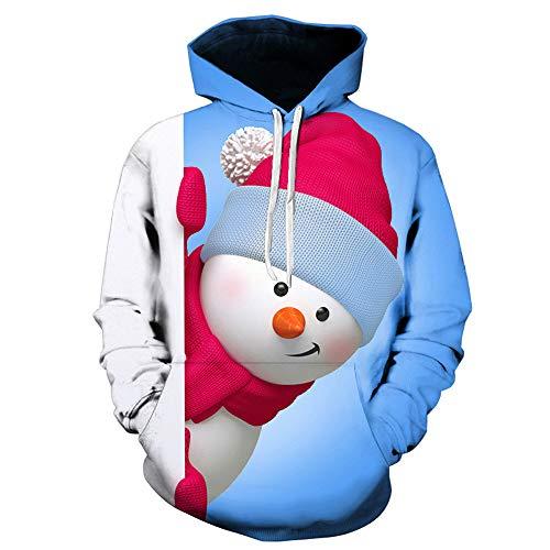 Christmas Sweater Herren Damen Unisex UFODB Männer Weihnachten Weihnachtspullover Kapuzenshirt Kapuzensweatshirt Sweatshirtjacke ()