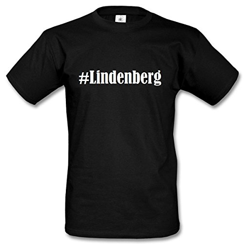 T-Shirt #Lindenberg Größe L Farbe Schwarz Druck Weiss ()