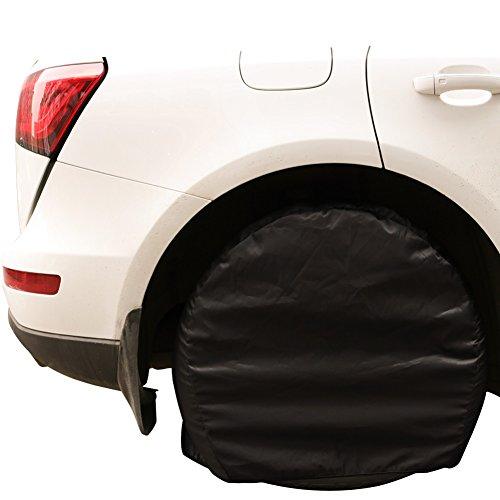 26-29 zoll Universal Ersatzreifenabdeckung Jeep Reifenabdeckung,4 Stück Nylon Reifen Schutz für Auto, Jeep, LKW, SUV, Anhänger, Camper, RV