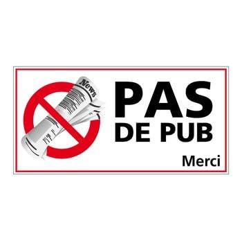 eaf18f1130233 Adhésif - Stop Pub - Vitre - Dimensions 80 x 40 mm - Protection anti-UV