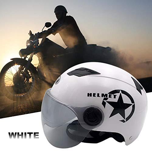 gaeruite Casco Moto, Casco Moto Estivo Regolabile Unisex per Forniture di Sicurezza