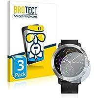 BROTECT Protector Pantalla Cristal para Garmin Vivoactive 3 Cristal Vidrio Glass Screen Protector [3 Unidades] - AirGlass