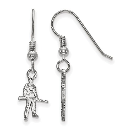 Lex & Lu LogoArt LAL147383 - Pendientes colgantes de plata de ley con diseño de Virginia del Oeste