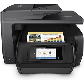 HP OfficeJet Pro 8725 AiO - Impresora multifunción (Inyección de tinta térmica, 300 x 300 DPI, 600 x 600 DPI, 1200 x 1200 DPI, A4, 216 x 356 mm), negro