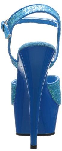 Pleaser Delight-609uvg, Sandales Bout Ouvert Femme Blau