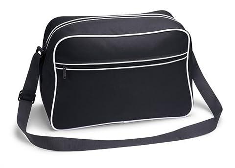 TASCHE Retro Shoulder / Polyester / 40x28x18 cm / Black