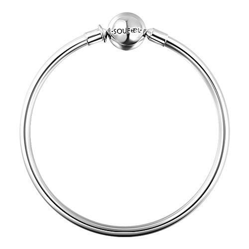 Soufeel 925 Argent 21 CM 8.3 Inch Principe charm Jonc Bracelets Pour charms charm Colliers Bracelets
