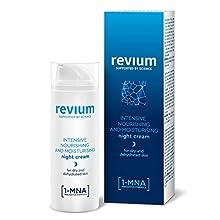 Revium Intensiv Aufbauende Super-Feuchtigkeits-Nachtcreme mit 1-MNA Molekül, Hyaluronsäure-Aktivator und NMF-Regenerationskomplex, 50ml
