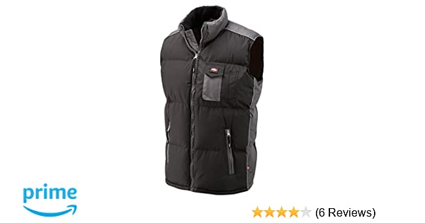 Lee Cooper 703 Moss Black Padded Body warmer VEST BLK//GREY XXL