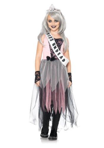 (Leg Avenue C48170 - Zombie Prom Queen Kostüm Set, Größe L, rosa/schwarz)