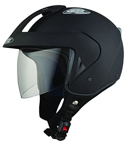 Studds KS-1 Metro Open Face Helmet (Matt Black, L)