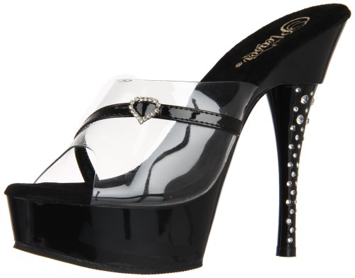 Pleaser Diamond-601H - Sexy Plateau High Heels Sandaletten 35-43, Größe:EU-43 / US-12 / UK-9 Diamond High Heel