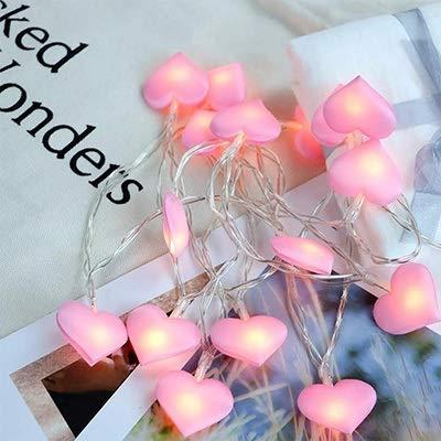 PPTRTYQ Led Love Heart Hochzeit String Fairy Light Urlaub Weihnachten Beleuchtung Girlande für Party Girl Schlafzimmer Dekor (Farbe: Pink, Wattage: 6m - Fairy Girl Kostüm