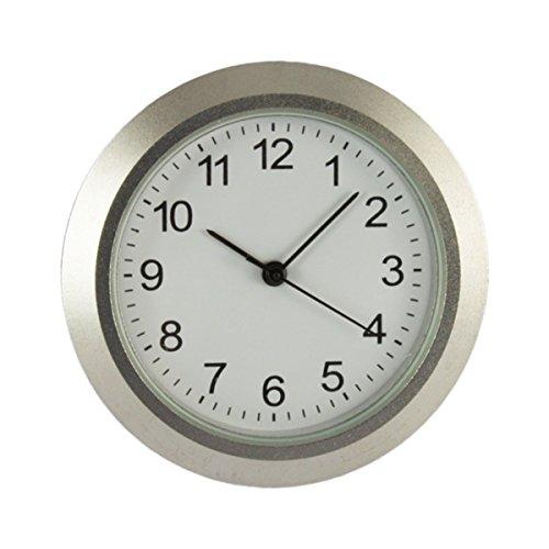 Cloxinelle Uhrwerk aus Metall I Einbau-Uhr I Modellbau-Uhr I Quartz Uhrwerk I Ø 36,5 mm I Nr.8067