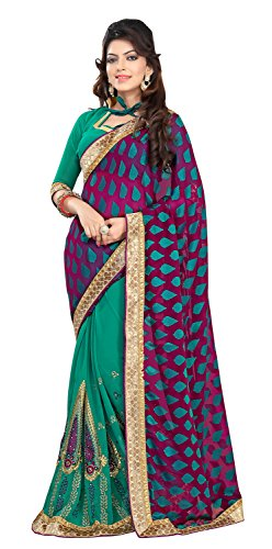 Chigy Whigy Green Fancy Jacquard Casual Wear Sarees