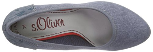 s.Oliver Damen 22412 Pumps Blau (DENIM 802)