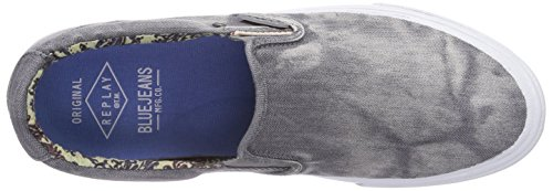 Replay Clams, Baskets Basses homme Gris - Grau (28)