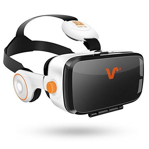 VOX BE VR Occhiali Box con Cuffie 3D per Realtà Virtuale con Auricolari per Smartphone da 4.0 a 6,2 pollici Samsung iphone Sony ecc.