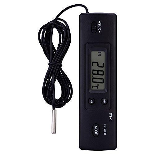 Elektronische LCD Digital Thermometer Temperatur Feuchtigkeitsmesser Sonde Sensor Verdrahtet Für Kühlschrank Klimaanlage Fisch Tank Verwendung