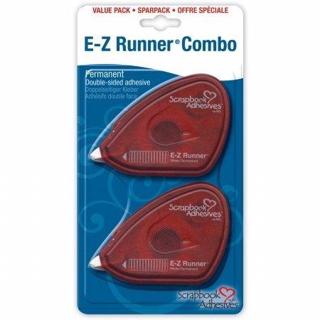 "Scrapbook Adhesives E-Z Runner Adhesive 2/Pkg-Permanent, .375""X56"