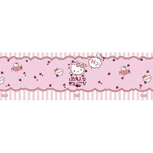 itty Thema 3D Kinder Wandbild Mädchen Herz rosa Cartoon Schlafzimmer Tapete Wandverkleidung, 250 * 175cm = 122 ()