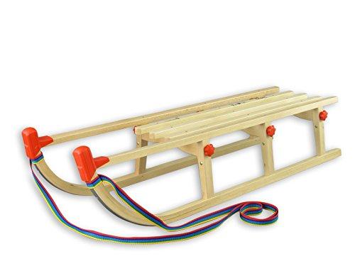 Erst-Holz 22-115 Klappschlitten Rodel Schlitten Holzschlitten Faltschlitten Länge 115 cm