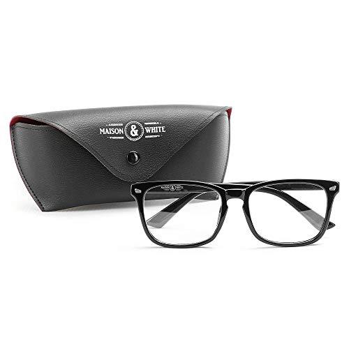 Blaulichtfilter Lesebrille | Augen vor Blau- und UV-Strahlen schützen Reduziert die Belastung der Augen, Kopfschmerzen und Müdigkeit Bildschirmschutz für Computer und Telefone | M&W