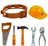 Kinder Jungen Mädchen Spielzeug Play Bauherr Works Man Schutzhelm Werkzeuggürtel & Werkzeug
