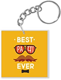 YaYa Cafe Fathers Day Gifts Best Papa Ever Keychain Keyring For Dad