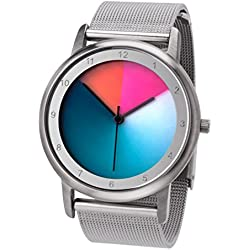Rainbow e-motion of color Women's Quartz Watch Avantgardia AV45SsM-MBS-cl with Metal Strap