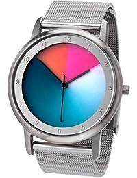 Rainbow e-motion of color Avantgardia - Reloj de cuarzo unisex, con correa de