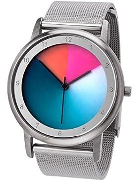 Rainbow e-motion of color Unisex-Armbanduhr Avantgardia Analog Quarz Edelstahl AV45SsM-MBS-cl