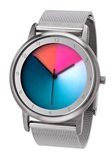 Rainbow e-motion of color Unisex-Armbanduhr Avantgardia Analog Quarz Edelstahl AV45SsM-MBS-cl